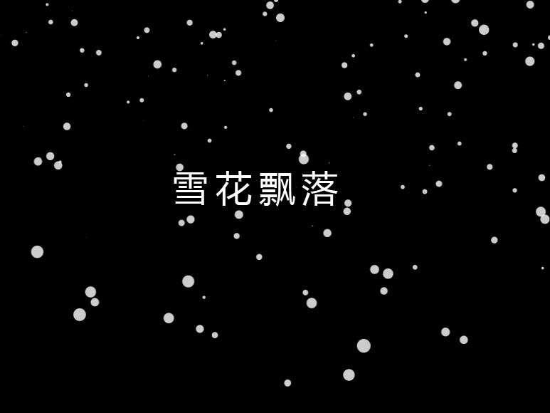 透明的雪花飘落背景动画特效