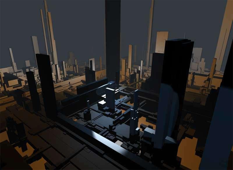 全屏3D建筑结构旋转视角特效