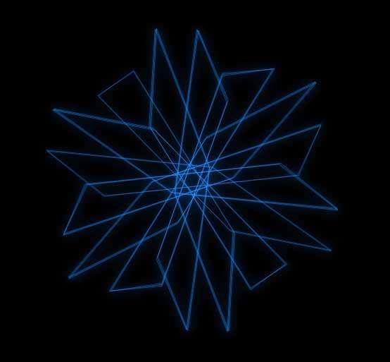 蓝色线条六角形动画特效