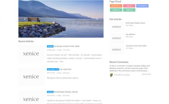 WordPress简约博客主题OneNice v2.0.5
