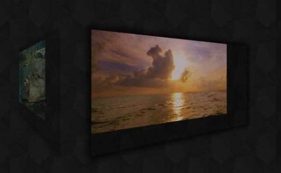 HTML5全屏焦点图片3D立方体翻转特效