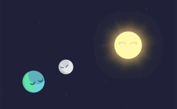 css3太阳行星运动场景特效