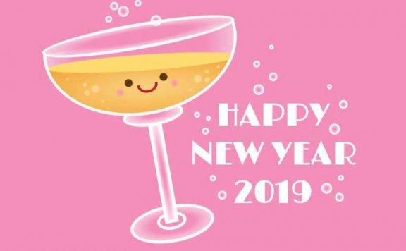 纯css3香槟酒杯气泡新年动画特效