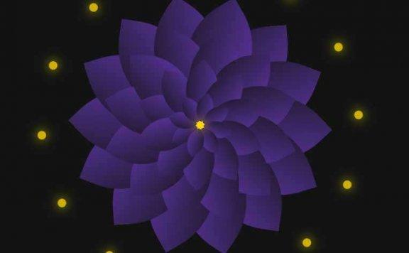 css3绘制紫色的花瓣动画特效