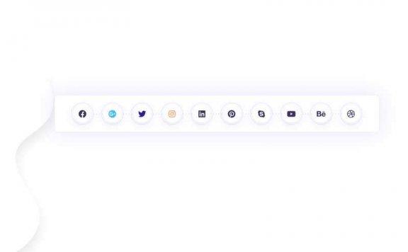 创意的分享图标过渡动画特效