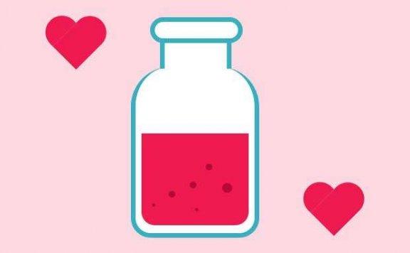 卡通的爱情药剂图形特效