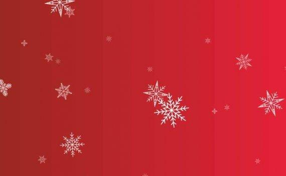 全屏透明的雪花片状掉落动画特效