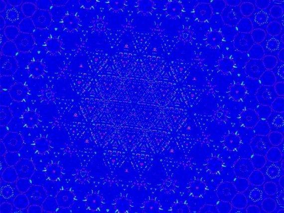 蓝色酷炫的万花筒ui动画特效