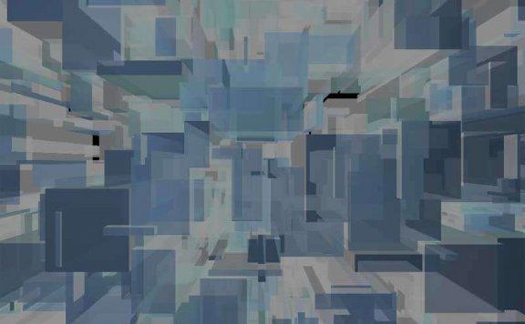 3D方块结晶体动画特效