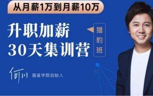 2020何川升职加薪30天训练营+60天团队管理训练营 (内容更新)