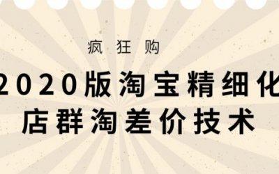 2020版大猫淘差价课程,淘宝精细化店群技术(视频+文档+工具)