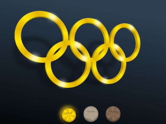 3D奥运五环图形特效